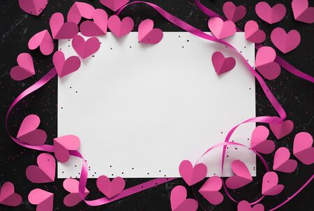 愛の装飾グリーティング カード用紙