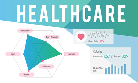 Graphic with healthcare concept 스톡 콘텐츠