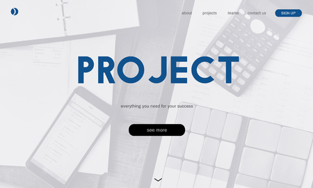 Website with project concept
