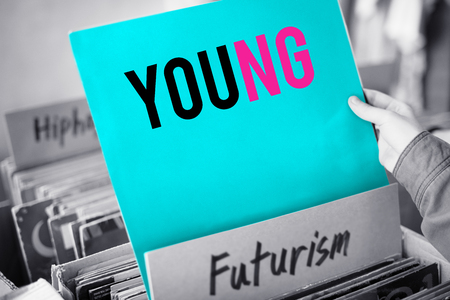 Young and futurism concept Stok Fotoğraf