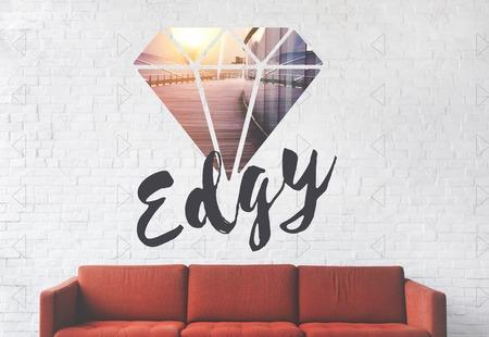 Edgy Different Unique Original Diamond Word