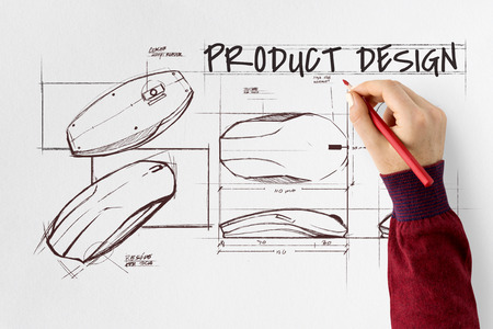 Designer with product design concept
