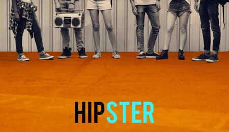 Hipster Freedom Youth Teenager Graphic Word Stok Fotoğraf