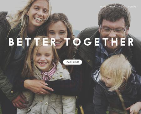 家族一緒に愛の幸福の優しさ 写真素材
