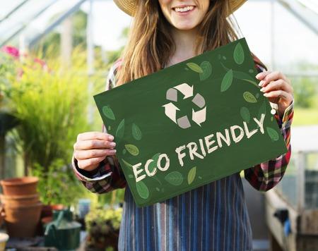 リサイクル自然世界のアイコン Grapphic 写真素材