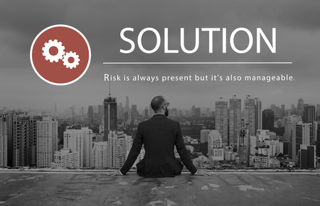 Risk Management Challenge Solution Prioritize Stock Photo - 77393741