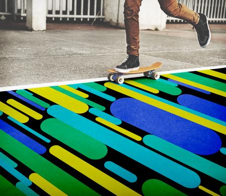 Abstract Colorful Drawing Uillustration Concept Reklamní fotografie