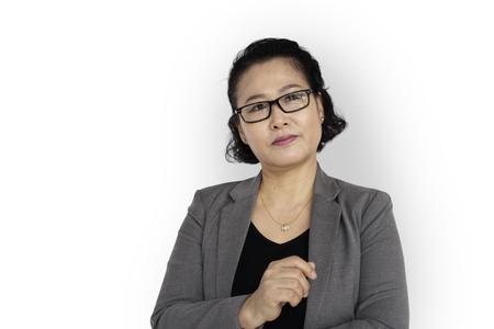 Asian businesswoman thinking Reklamní fotografie