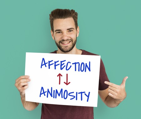 enmity: Affection Animosity Love Hate Oppsite Stock Photo