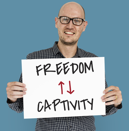 contradiction: Antonyms Freedom Captivity Arrow Graphics