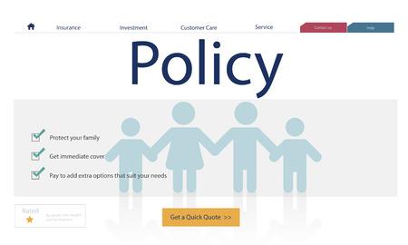 Verzekeringsdekking mix vergoeding bescherming concept