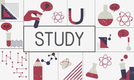 Illustration de l & # 39 ; étude de biochimie recherche recherche Banque d'images - 77250300
