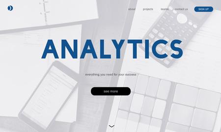 Website with analytics concept