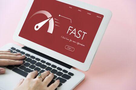 Fast Speed Broadband Accelerate Internet Stock Photo