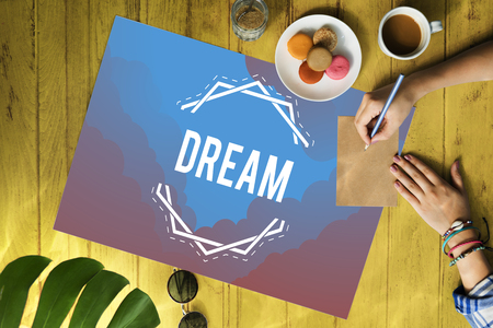 Inspiration Fresh Ideas Dream Word Stock Photo