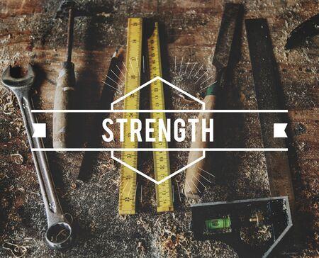 Stärke Mut Kraft Haltbarkeit Energie Kraft Standard-Bild - 77328888