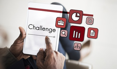 Challenge Solution Performance Forecast Analysis Stock Photo