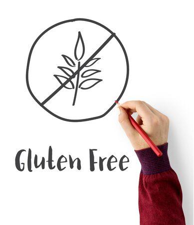 Concetto di stile di vita sano senza glutine Archivio Fotografico - 77269978