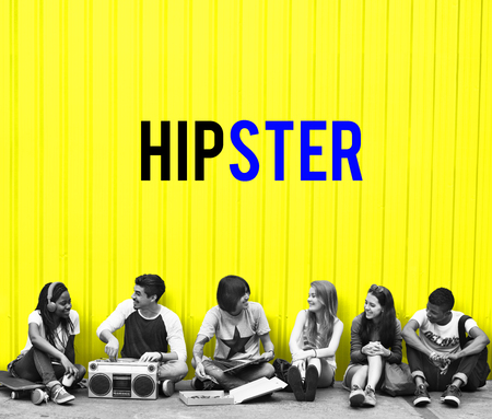 Hipster Freedom Youth Teenager Graphic Word Reklamní fotografie