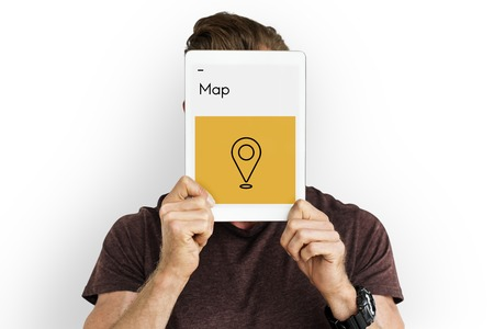 Destination Journey Location Map Route Sign Icon Stock Photo