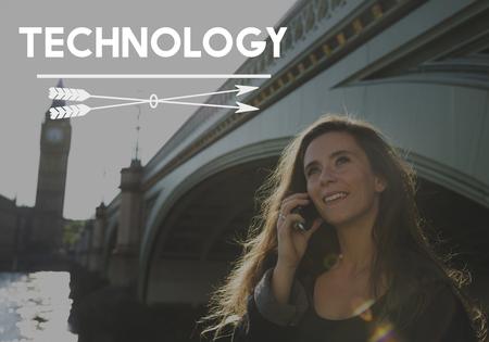 Technology Connection Digital Life Icon Reklamní fotografie