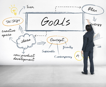 Businessman with goals concept