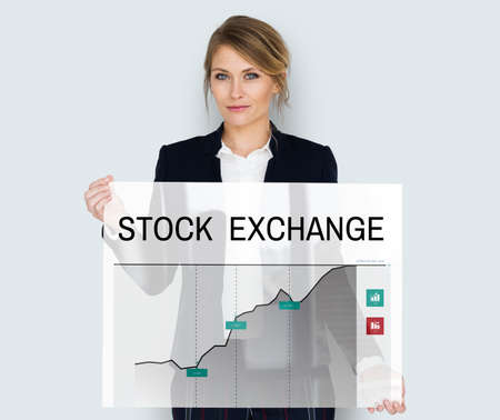Stock exchange information board graphic