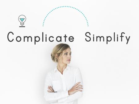 複雑に向かい反意語を簡素化する単に複雑な