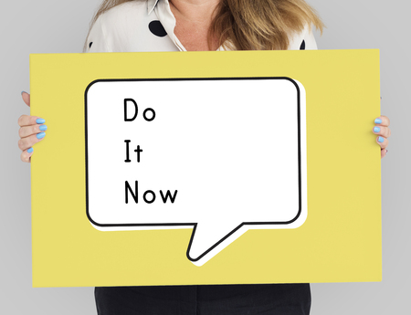 Do It Now Begin Start Launch Motivate Stock Photo