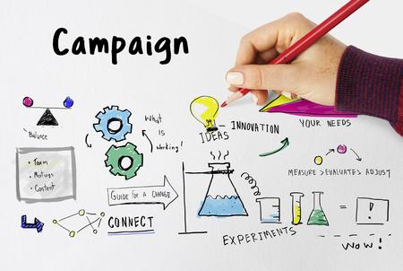 新製品キャンペーンを起動システム スケッチ 写真素材