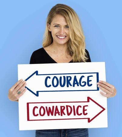 cowardice: Arrows Opposite Choice Correct Solution Icon Stock Photo