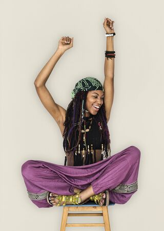 rastas: African Woman Smiling Happiness Arms Raised Ecstatic