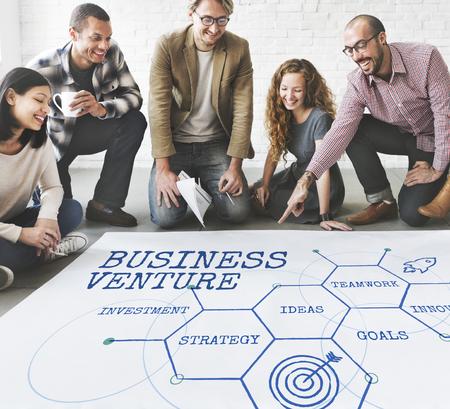 Uitbreiding business venture Implementatie Stockfoto