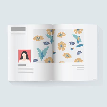 雑誌ニュース記事ベクトル図
