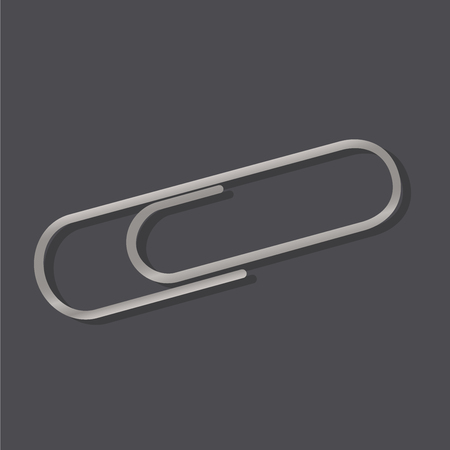 Icon graphic of clip attachment vector illustration Ilustrace