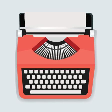 Retro Vector van de het Pictogramillustratie van de Schrijfmachinemachine
