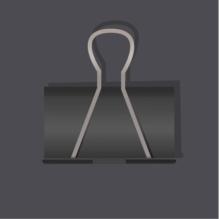 Paperclip stationery tool vector illustration