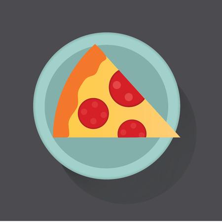 ピザのスライス アイコン ベクトル図