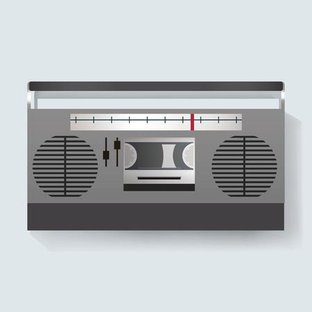 Retro Radio Entertainment Media Icon Illustration Vector Reklamní fotografie - 77460209