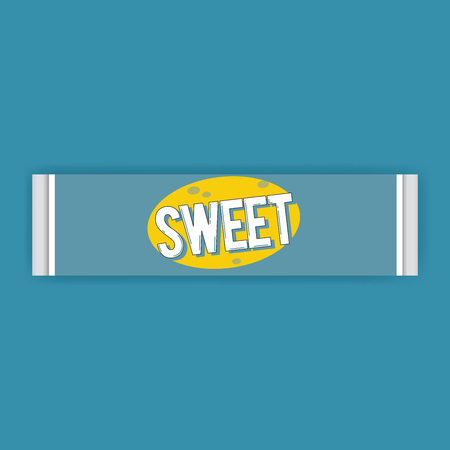 Chewing Gum Bar Snack Sweet Icon Illustration Vector