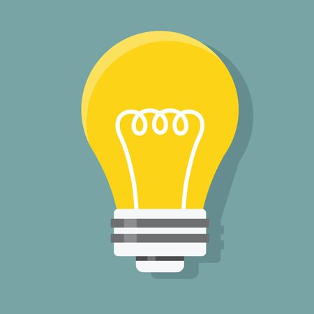 Icon graphic of lightbulb illustration vector