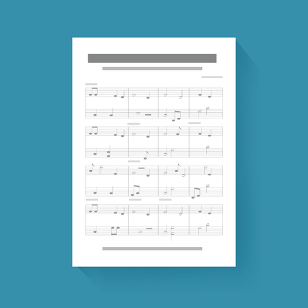Music Note Sheet Compose Song Icon Illustration Vector Иллюстрация