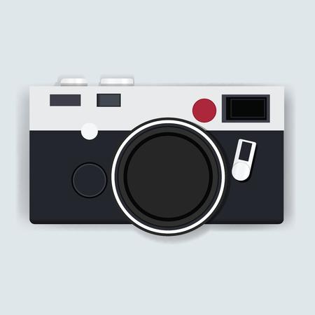 レトロなカメラ写真アイコン イラスト