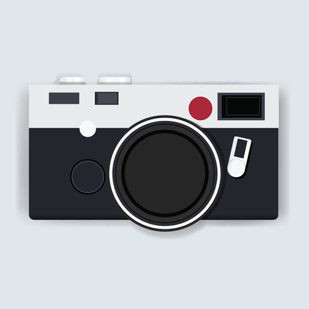 Retro Camera Photography Icon Illustration Vector