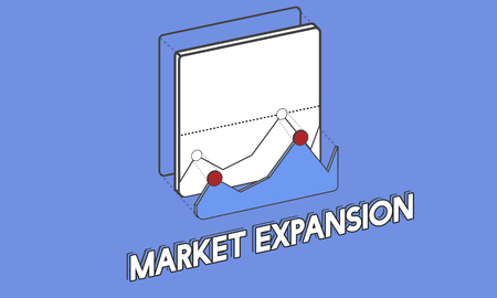 Graphic with market expansion concept
