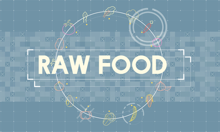 Graphic with raw food concept