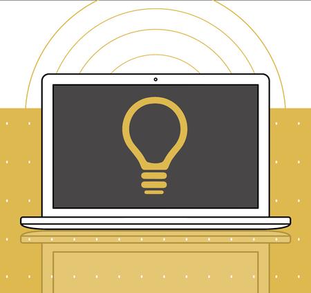 Gloeilamp Idee Creativiteit Grafisch Symbool Pictogram