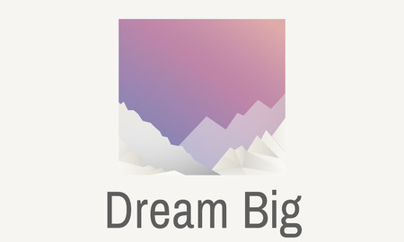 Graphic with the words dream big