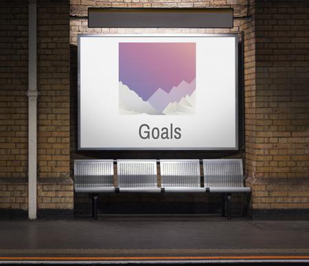 Signboard with Goals concept Stock fotó