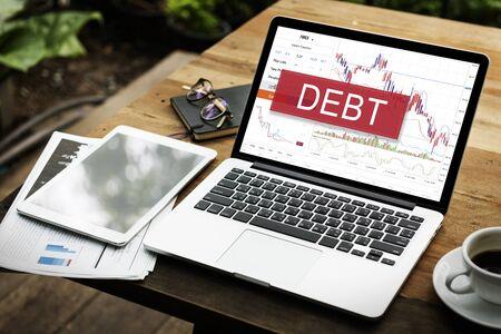 Debt Loan Money Finance Word Graphic
